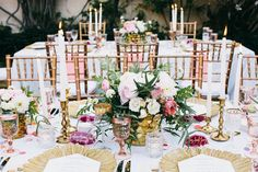 Colorful boho modern wedding decor. Wedding tables. Dining tables with color. Agate slice place cards.  | Palm Springs Wedding | Lovelyfest Event Design