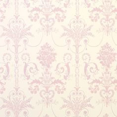 Josette Carnation Damask Wallpaper | Laura Ashley