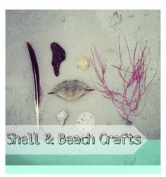 If you have lots of shells laying around, consider some of these beach crafts! They're easy and cheap.