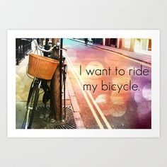 bicycle race Art Print by amy copp - $14.56