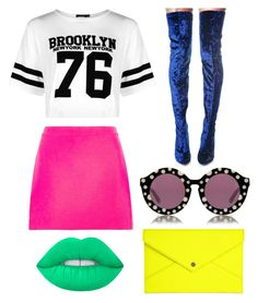 """""""Untitled #230"""" by bandsdestroyamylife on Polyvore featuring Versace, Danielle Nicole, Boohoo, Cape Robbin, Lime Crime and House of Holland"""