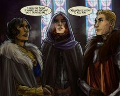 The crew http://alexschlitz.tumblr.com/tagged/dragon-age