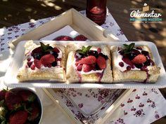Puff pastry berry tarts