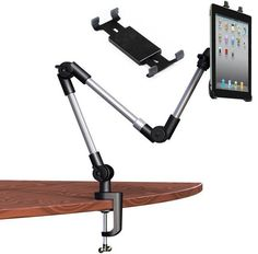 iPad Arm Mount - Universal Tablet Mount Holder - Adjustable Fixed Arm Mount Heavy Duty Strong Clamp Mount - Fits Apple Pad Mini Pro Tablets from to Samsung Galaxy Tab by King of Flash Tablet Mount, Ipad Tablet, Ipad Pro, Tablet Stand, Ipad Stand, Tech Gadgets, Cool Gadgets, Technology Gadgets, Vw Lt