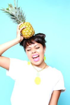 Pineapple Chunks Necklace by ILCTropicsShop on Etsy, £20.00