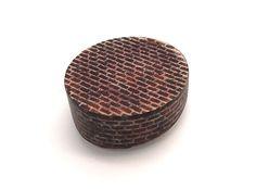 Sharon Massey - Brooch: Brickwork, 2015 | Copper, enamel, silver, steel | © By the author. Klimt02.net Copyright.