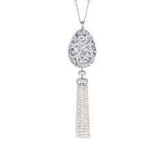 Fabergé Impératrice Diamond Tassel Pendant  #Fabergé #FabergéEgg #diamond #pendant