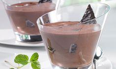Minz-Mousse -  Ein sahniges Dessert mit Minze und Schokolade