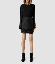 Womens Taura Skirt (Black) - End of Season Sale, AllSaints