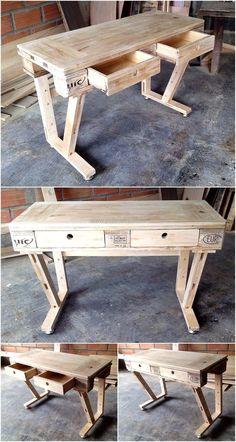 wooden pallet desk project