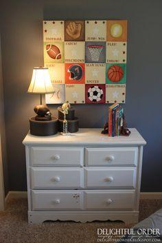 baby boy sport theme room decor | Delightful Order: Boy's Sports Room Decor - Clients Home