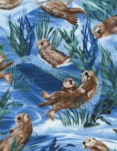 Sea Otters - Our Fabrics | TIMELESS TREASURES