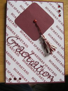 These are just some simple grad cards. A local shop had the school papers and I had a bit left. Graduation Cards, Graduation Invitations, Graduation Ideas, Mom Cards, Cute Cards, Scrapbook Cards, Scrapbooking, Congratulations Graduate, Cardmaking And Papercraft