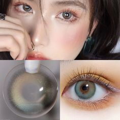Eye Shape Makeup, Green Colored Contacts, Light Camera, Camera Lens, Circle Lenses, Colored Highlights, Eye Shapes, Pretty Eyes, Green Eyes