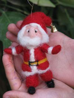 felted christmas ornaments pinterest | Needle felted Santa Claus Christmas ornament by ... | Felt and Felting