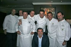 The culinary team with Frank Del Rio, founder and chairman of Oceania Cruises.