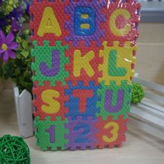 36pcs Mini Puzzle Age 1~6 Kid Educational Toys Alphabet A - Z Letters Numeral Foam Mat For Children Gifts