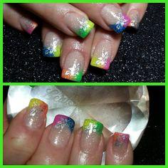 Neon Bahama nails