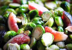 Raw Food Recipe Brussell Sprouts and Figs #raw #vegan #recipe