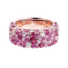 Sapphire And Diamond Band, Sapphire Jewelry, Diamond Bands, Pink Sapphire, Diamond Jewelry, Gold Jewelry, Sapphire Rings, Sapphire Bracelet, Dainty Jewelry
