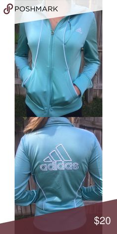 Adidas Small Teal Athletic Jacket 50bb7d7936e5d