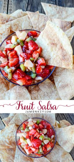 Fruit Salsa is a fun and easy snack to make with kids.