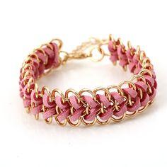 #Chain #Woven #Bracelets, #handmade http://www.beads.us/product/Zinc-Alloy-Bracelet_p161838.html?Utm_rid=219754
