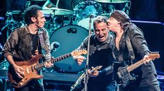 """NPR Article: """"Do You Really Know what Live is?""""  with picture of Nils Lofgren, Bruce Springsteen and Stevie Van Zandt performing in Paris earlier this month."""