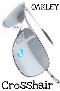 2ccada2b7d Oakley Crosshair OO4060-06 Lead with Black Iridium Polarized lenses - Mens  Sunglasses - On
