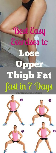 Get rid of that thigh fat now with this best workout at home .Burn 20 pounds of your inner thigh fat naturally with healthy diet and with a proven sexy slim thigh and legs before and after result (Workout Plan Thighs) Fitness Workouts, Sport Fitness, Easy Workouts, At Home Workouts, Health Fitness, Yoga Fitness, Fitness Goals, Fitness Shirts, Easy Fitness