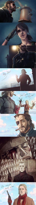 Metal Gear Solid, Big Boss, Quiet and Ocelot. Video Game Art, Video Games, Snake Metal Gear, Metal Gear Solid Series, Character Art, Character Design, Metal Gear Rising, Mgs V, Gear Art