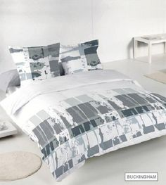 Printed Duvet sets are an easy way to change the whole theme of your bedroom and come at a more affordable price. This printed bed duvet cover comes with matching pillow case in a wide assortment of colours and a style to fit every person's tastes. Transform your bedroom into something spectacular! From £18.99 via www.lancashiretextiles.co.uk #print #pattern #modern #grey #home #sleep #interiors