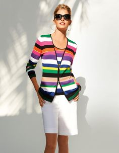 Striped top in color multi-coloured -  Madeleine Mode Onlineshop