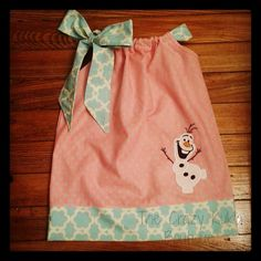 Olaf Pillowcase Dress Olaf Dress Frozen by CrazyKuklaBoutique, $32.00