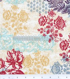 Love this pattern! Keepsake Calico #fabric: Rose Garden