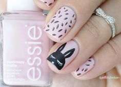 Essie just stitched cute bunny nail art