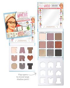 Paleta de Sombras theBalm Appétit - The Beauty Box Beauty Box, Beauty Makeup Tips, Beauty Products, Face Products, Beauty Stuff, Makeup Palette, Eyeshadow Palette, Cosmetic World, Makeup Must Haves