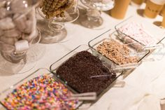 Delicious toppings at a Hot Cocoa Bar party!  See more party ideas at CatchMyParty.com!  #partyideas #hotcocoa