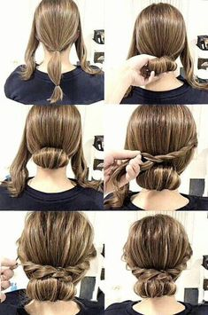 Check out our collection of easy hairstyles step by step diy. You will get hairs. - - Check out our collection of easy hairstyles step by step diy. You will get hairstyles step by step tutorials, easy hairstyles quick lazy girl hair hac. Cute Simple Hairstyles, Work Hairstyles, Stylish Hairstyles, Bouffant Hairstyles, Simple Updo, Easy Wedding Hairstyles, Hairdos, Easy Side Updo, Simple Homecoming Hairstyles
