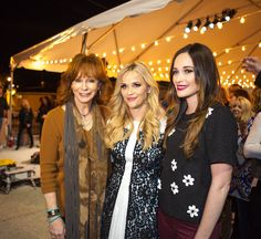 The night called for a party, and I was honored by the incredible support from women in the Nashville community. Here I am with Reba McEntire and Kacey Musgraves (in a Draper James Collection shirt).