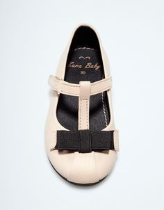 leather ballerina - Shoes - Baby girl (3-36 months) - Kids - ZARA United States #babies #fashion #cute