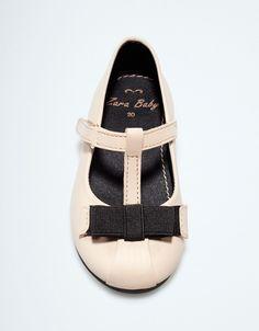 leather ballerina - Shoes - Baby girl (3-36 months) - Kids - ZARA