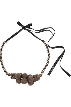 Fabric covered beads necklace. By Marni.
