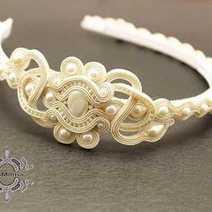 Headband Tutorial, Soutache Necklace, Shibori, Baby Headbands, Costume Design, Ribbons, Shabby Chic, Fashion Jewelry, Hair Accessories