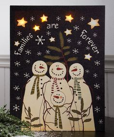 Another great find on #zulily! Snowman Family Light-Up Canvas by Ohio Wholesale, Inc. #zulilyfinds