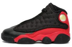 17a3bf45abea Mens Nike Air Jordan Retro 13 Bred Basketball Shoes Black   Varsity Red    White 414571