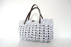 white summer bag Handbag Celebrity Style With Genuine by Sudrishta, $55.00