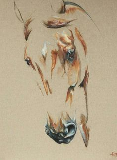 striking horse painting like you have never seen before… I am sure, you will be stunned to see these horses, because I was just gazing at them, and that' Horse Drawings, Animal Drawings, Art Drawings, Drawing Animals, Horse Head Drawing, Painted Horses, Arte Equina, Horse Sketch, Horse Artwork