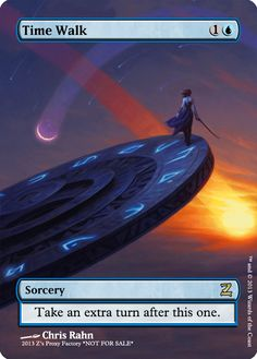 Time Walk, zeerbe, proxy, digital render, Z's Proxy Factory, MTG, Magic the Gathering