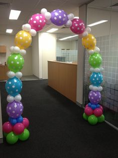 Balloon arches for your corporate needs, special wedding balloons in white - or your choice of colours to match the theme http://thecompletekidsparty.com.au/balloons/helium-balloons-and-diy-kits/